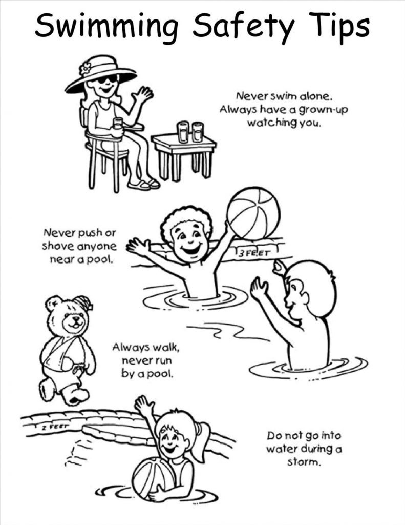 791x1024 Water Safety Coloring Pages
