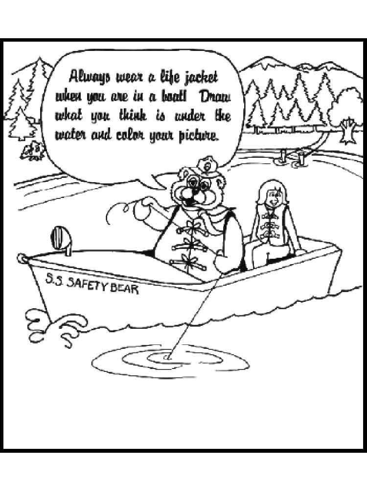 750x1000 Boating Safety Coloring Pages Free Printable Boating Safety