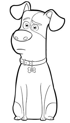 236x410 Print Buddy Is Relaxing Secret Life Of Pets Coloring Pages