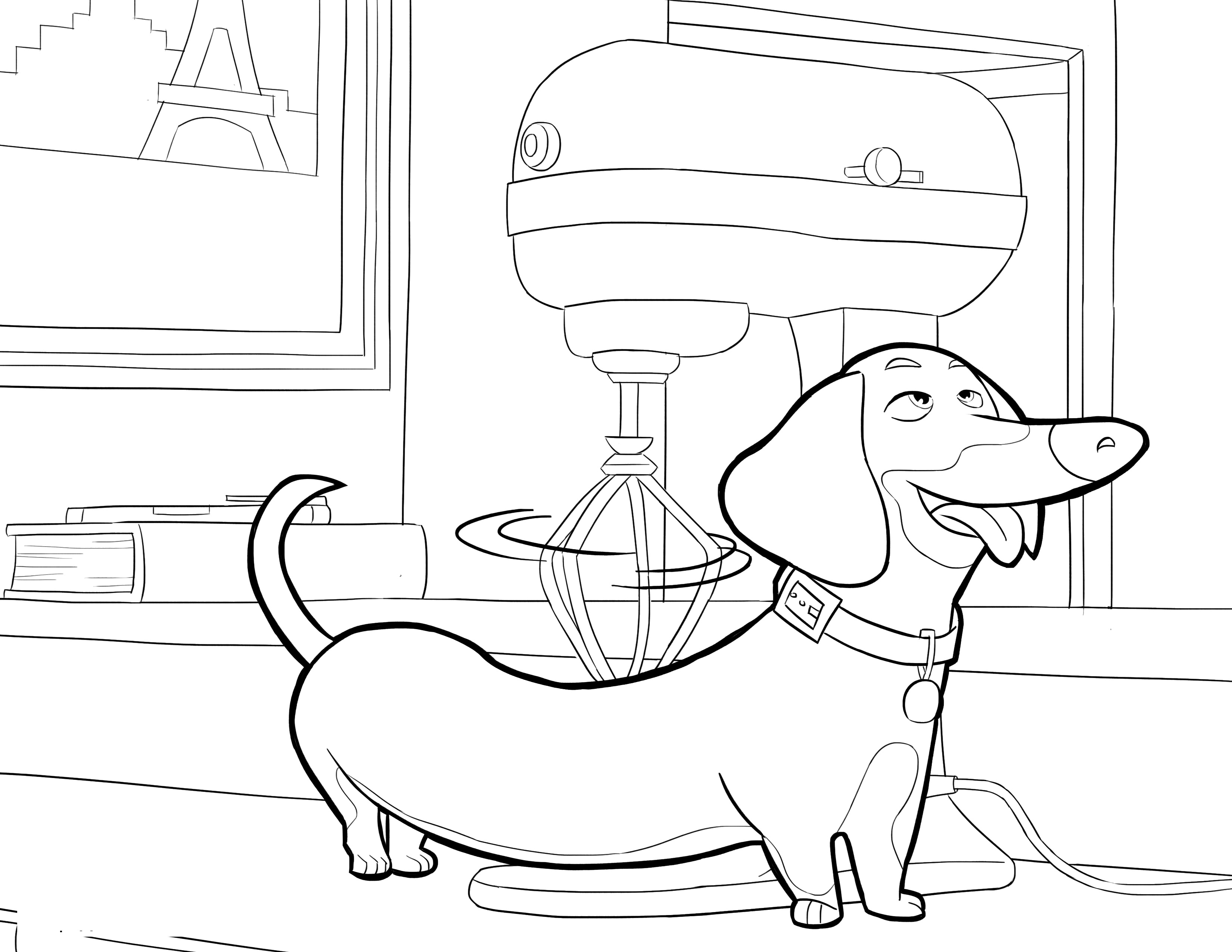 3300x2550 The Secret Life Of Pets Coloring Page