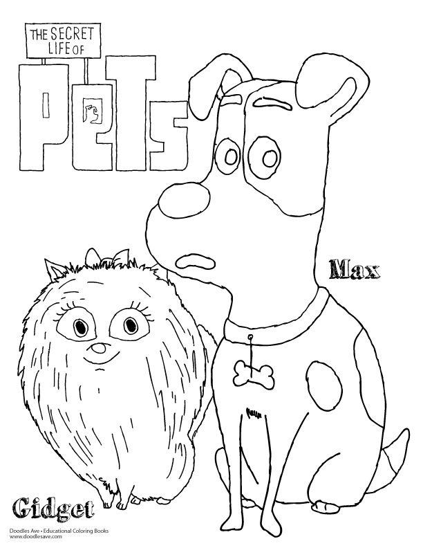 612x792 Doodles Ave Secret Lives Of Pets Max Gidget Secret Life