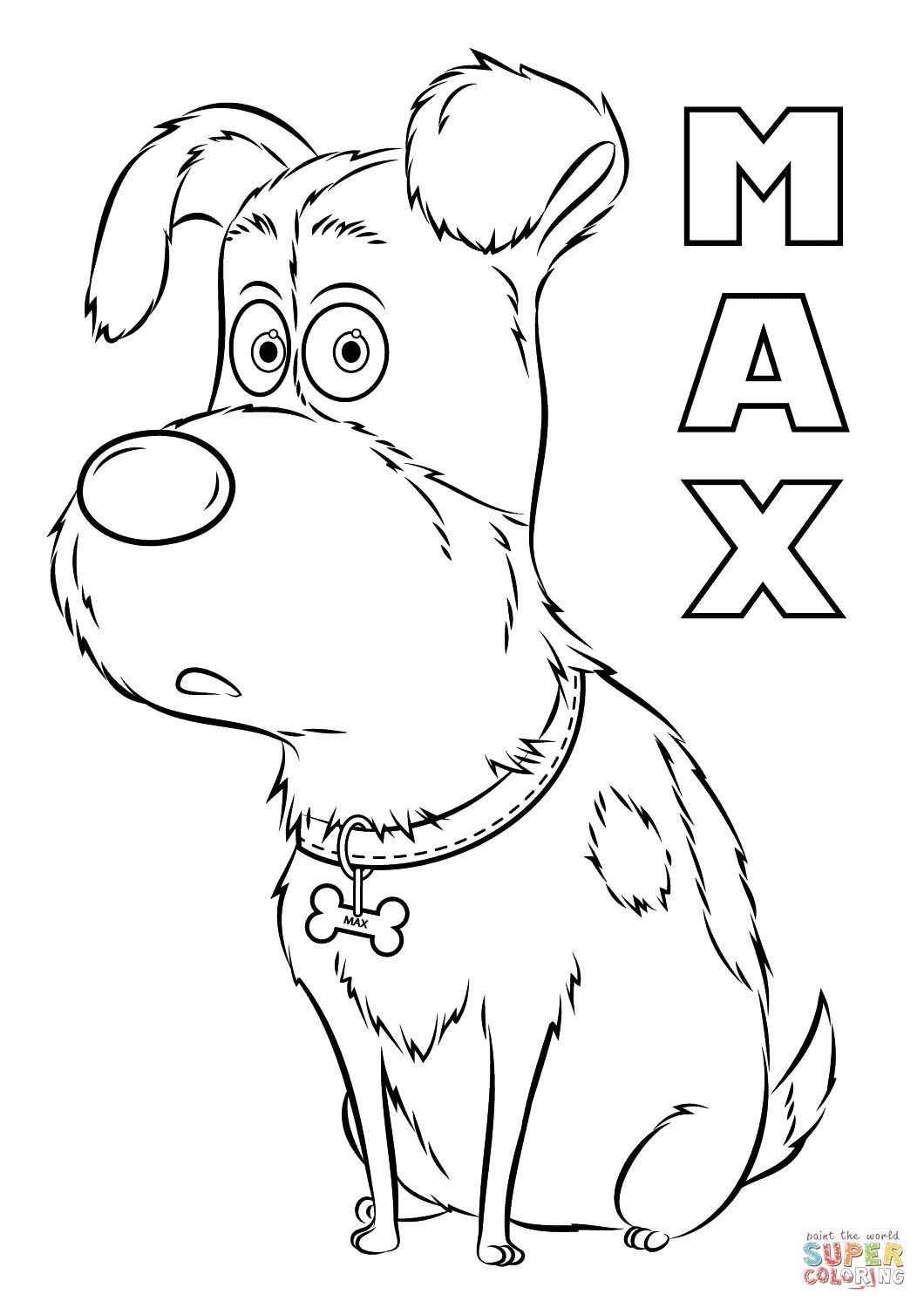 1060x1500 Max From The Secret Life Of Pets Coloring Page