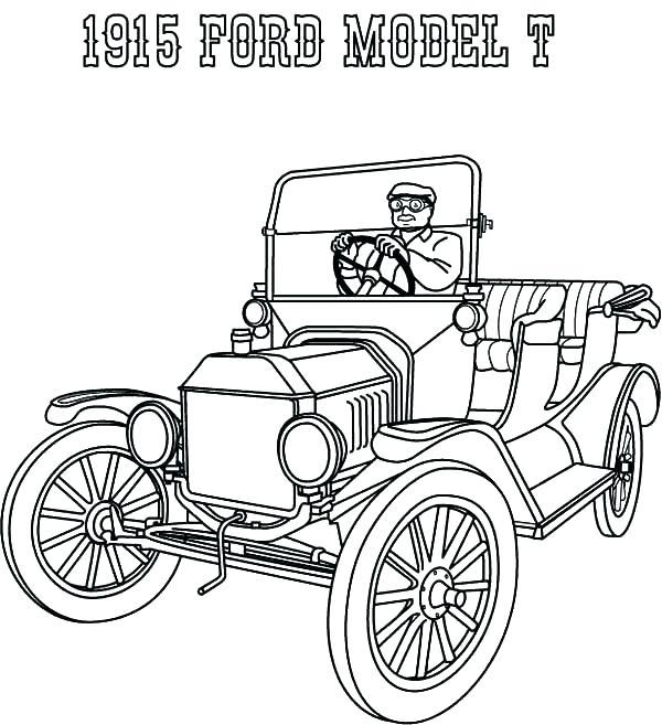 600x657 Ford Coloring Pages Ford Coloring Pages Ford Model T Car Coloring