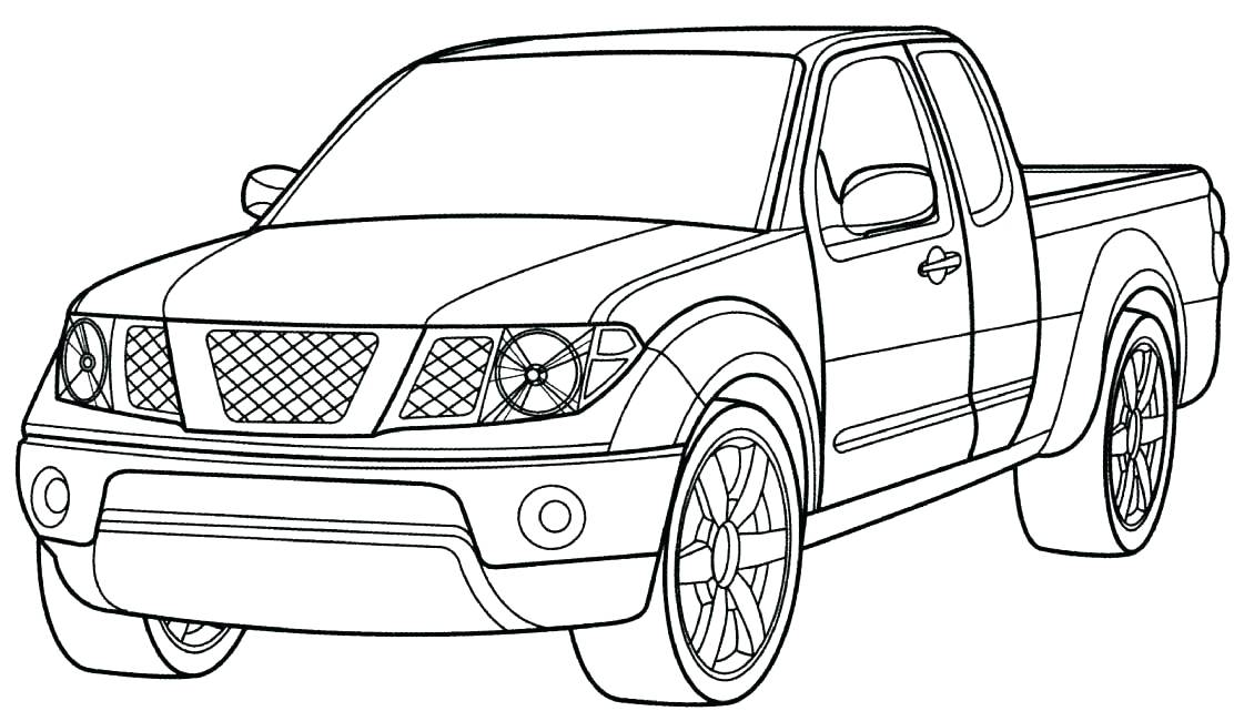 1112x641 Printable Pick Up Truck Coloring Pages Old Dump Pickup Instant
