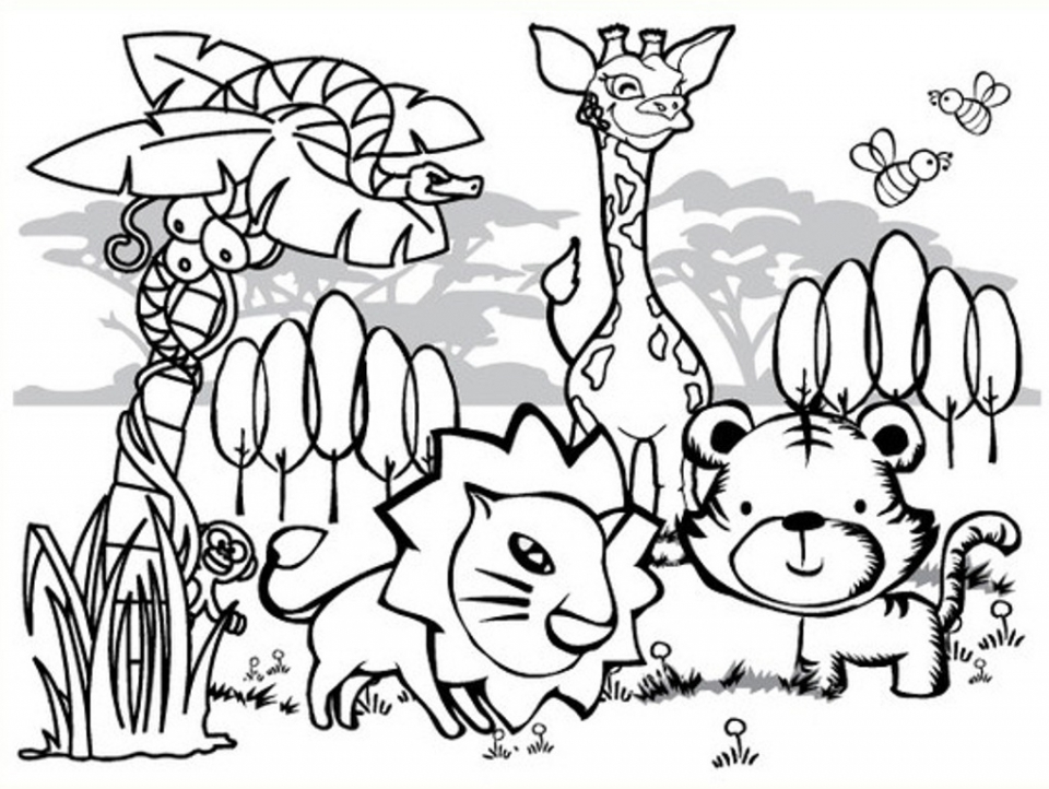 960x722 Free Printable Animals Coloring Pages