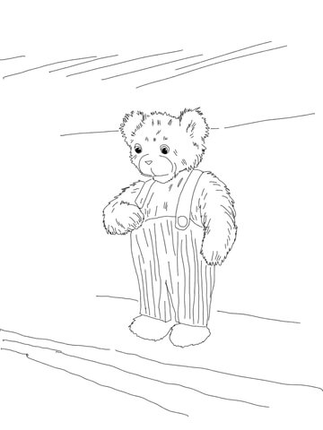 360x480 Corduroy Bear Printable Coloring Page
