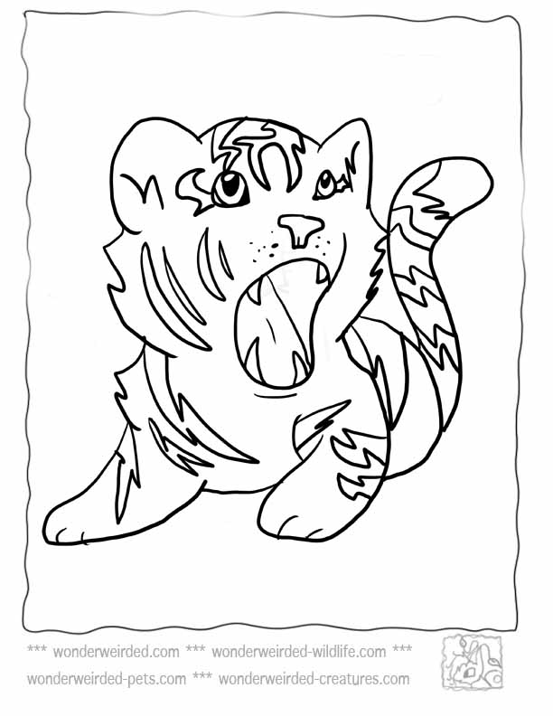 612x792 Cute Tiger Coloring Pages