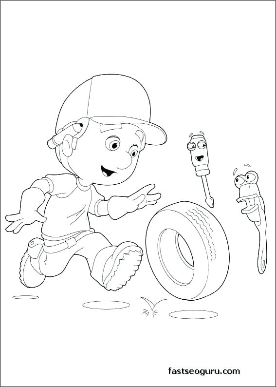 567x794 Handy Manny Coloring Pages Handy Coloring Pages Free Handy Manny