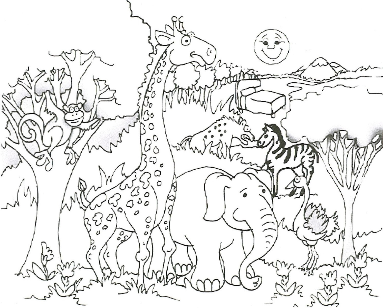 1492x1200 Animal Coloring Pages Pdf
