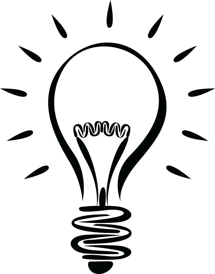 706x900 Light Bulb Coloring Page Also Color Light Bulbs Free Light Bulb