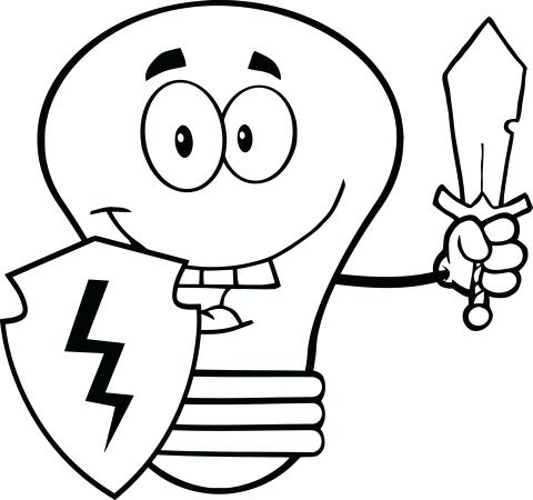 480x450 Light Bulb Coloring Page Together With Click To See Printable