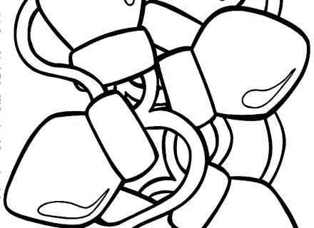 440x320 Christmas Bulb Coloring Page Light Coloring Page Light Bulb