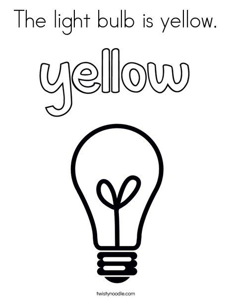 468x605 The Light Bulb Is Yellow Coloring Page