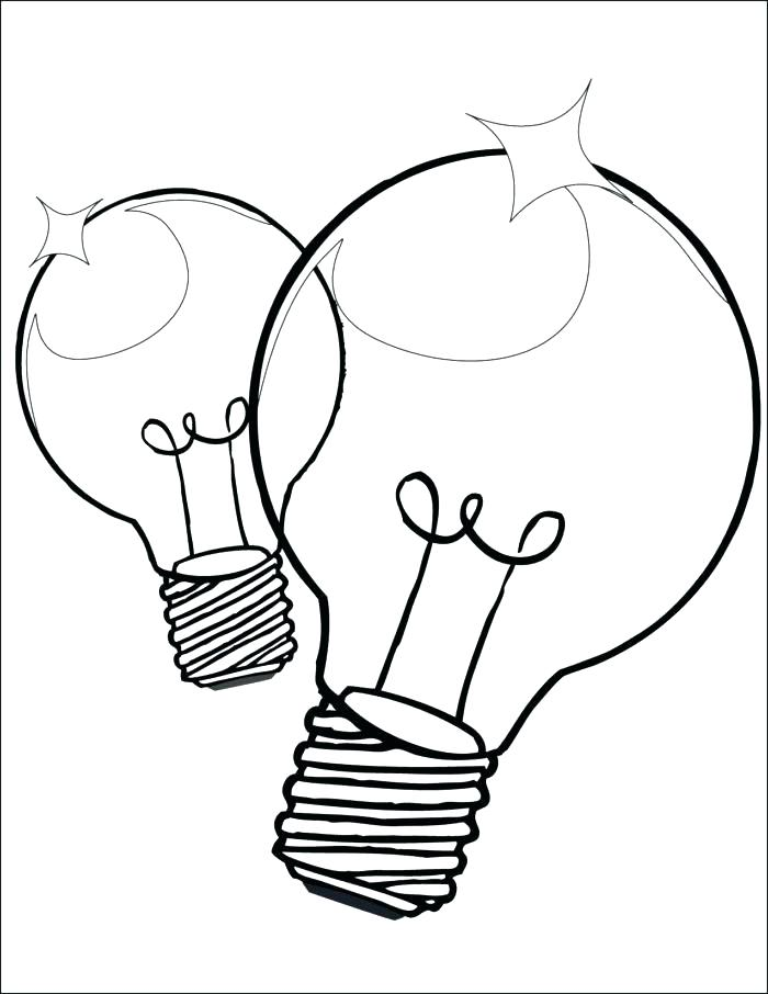 700x906 Light Bulb Coloring Page