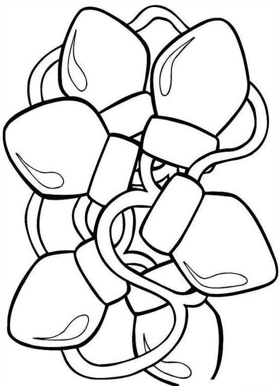 557x766 Christmas Lights Coloring Page Coloring Book