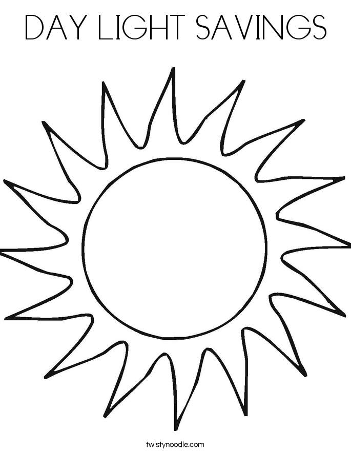 685x886 Day Light Savings Coloring Page
