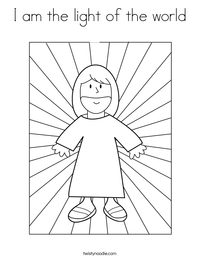 685x886 I Am The Light Of The World Coloring Page