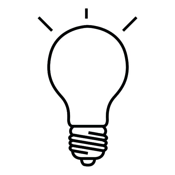 600x600 Light Coloring Page Drawing Light Bulb Coloring Pages Lightning