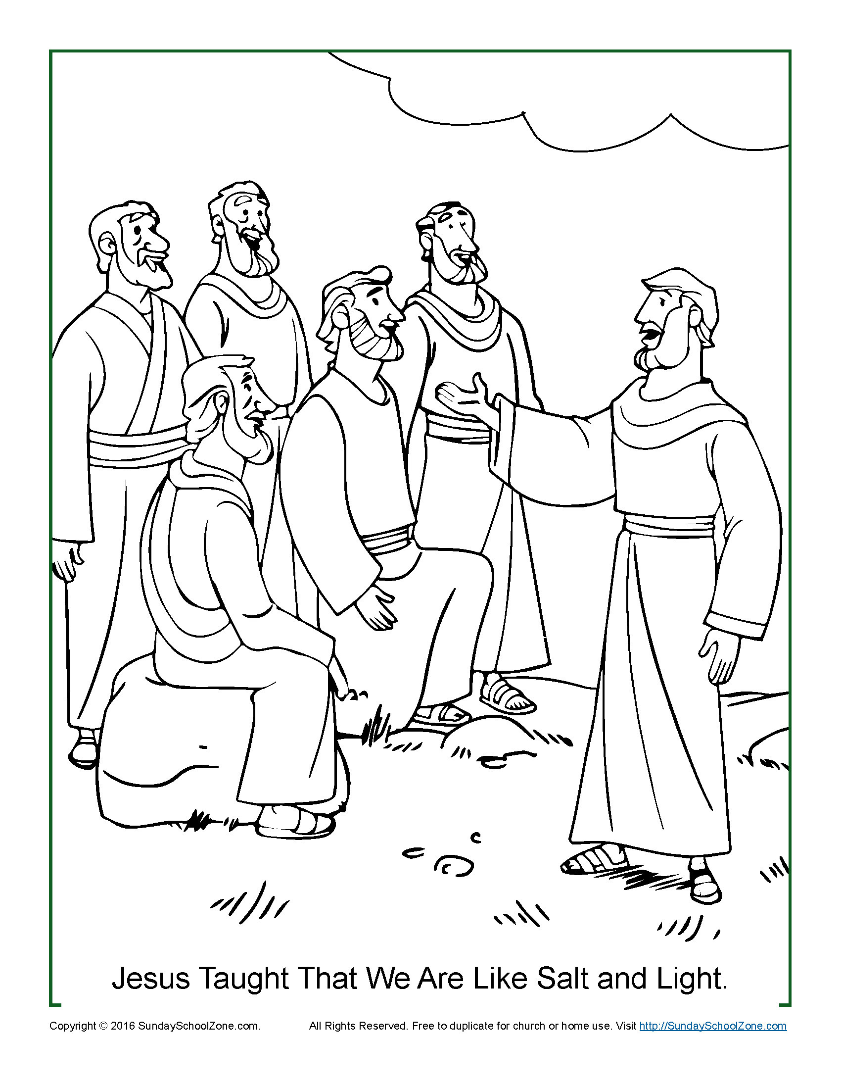 1700x2200 Light Coloring Pages Good Salt And Light Coloring Page