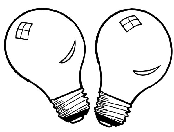 600x455 Light Coloring Pages Light Bulb Coloring Sheet Fluorescent Pages