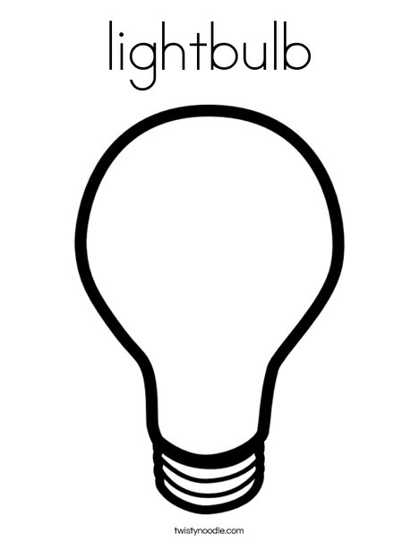 468x605 Lightbulb Coloring Page