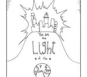 300x265 Jesus Is The Light Of The World Coloring Page