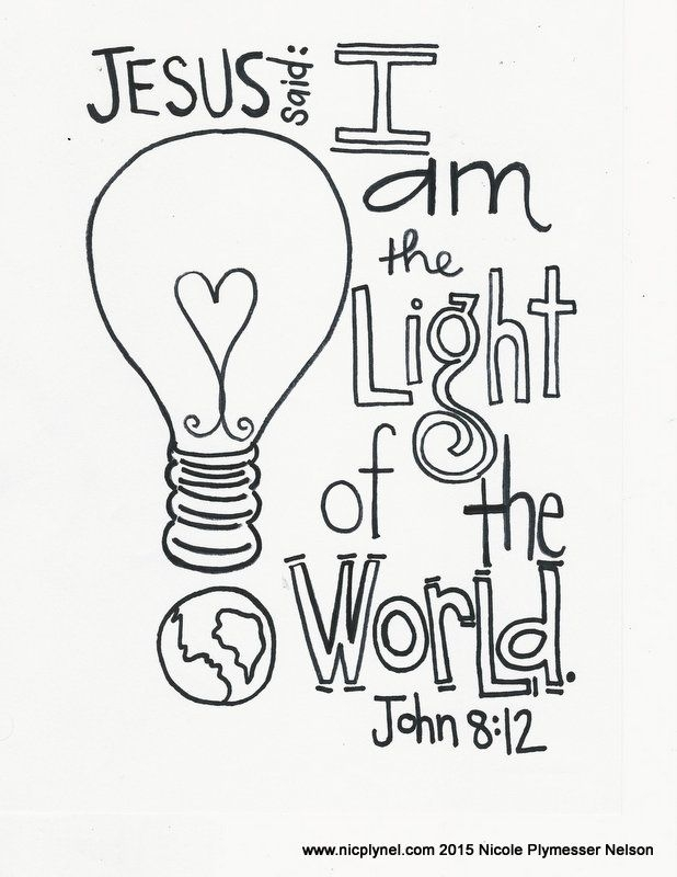 618x800 Jesus Is The Light Of The World Coloring Page