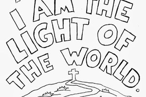 300x200 Jesus Is The Light Of The World Coloring Page Educational