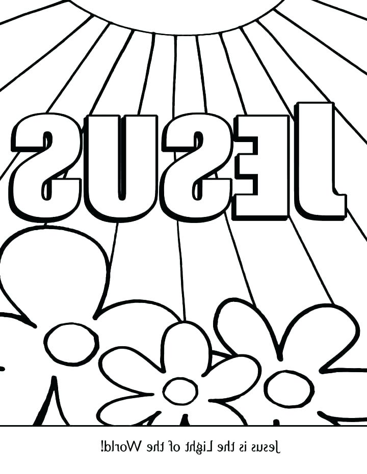 720x931 Jesus Is The Light Of The World Coloring Page Bible Coloring Pages
