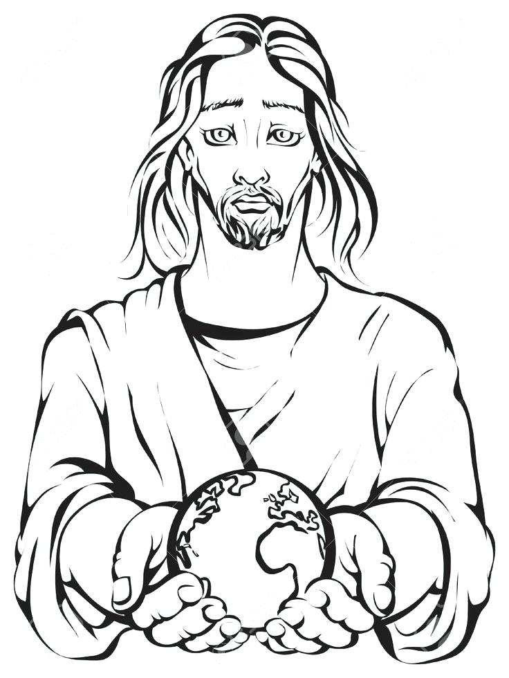 736x980 Jesus Is The Light Of The World Coloring Page Earth Drawing Merry