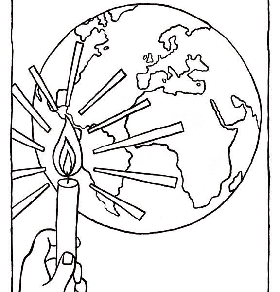 576x600 Jesus Is The Light Of The World Coloring Sheet Popular Trend