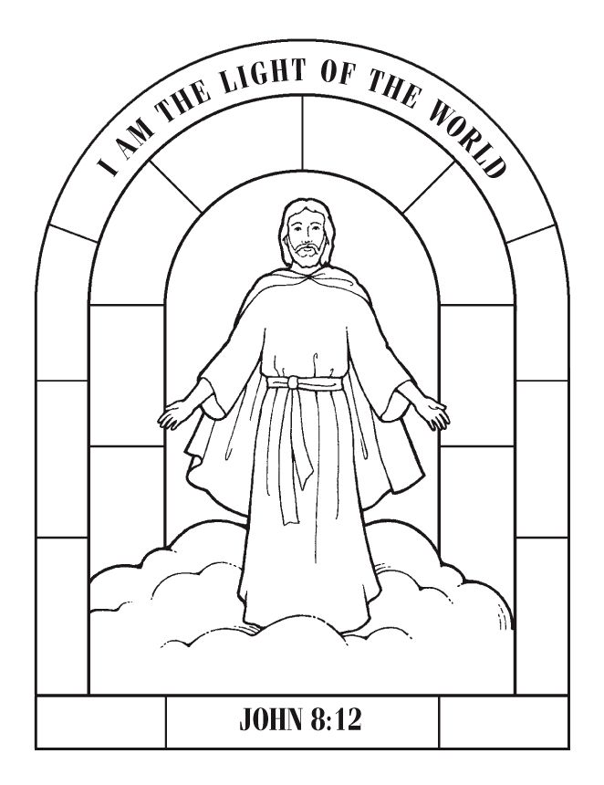 662x860 Jesus Is The Light Of The World Coloring Sheet Jesus Is The Light