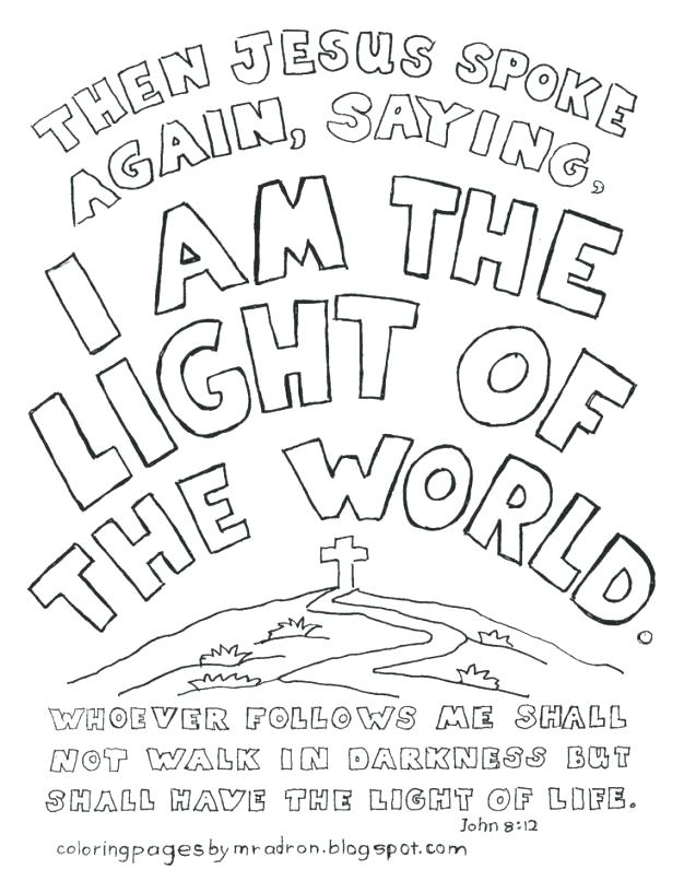 626x806 Jesus Is The Light Of The World Coloring Page Icontent