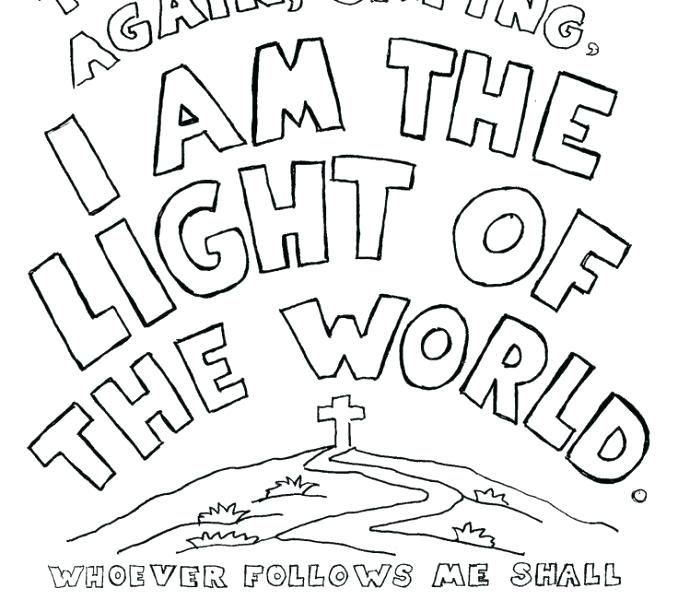 678x600 Jesus Is The Light Of The World Coloring Page