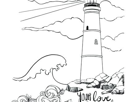 440x330 Lighthouse Coloring Pages Lighthouse Coloring Pages Printable