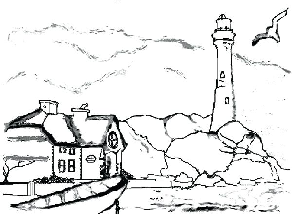 600x441 Lighthouse Coloring Pages Lighthouse Coloring Sheet Lighthouse