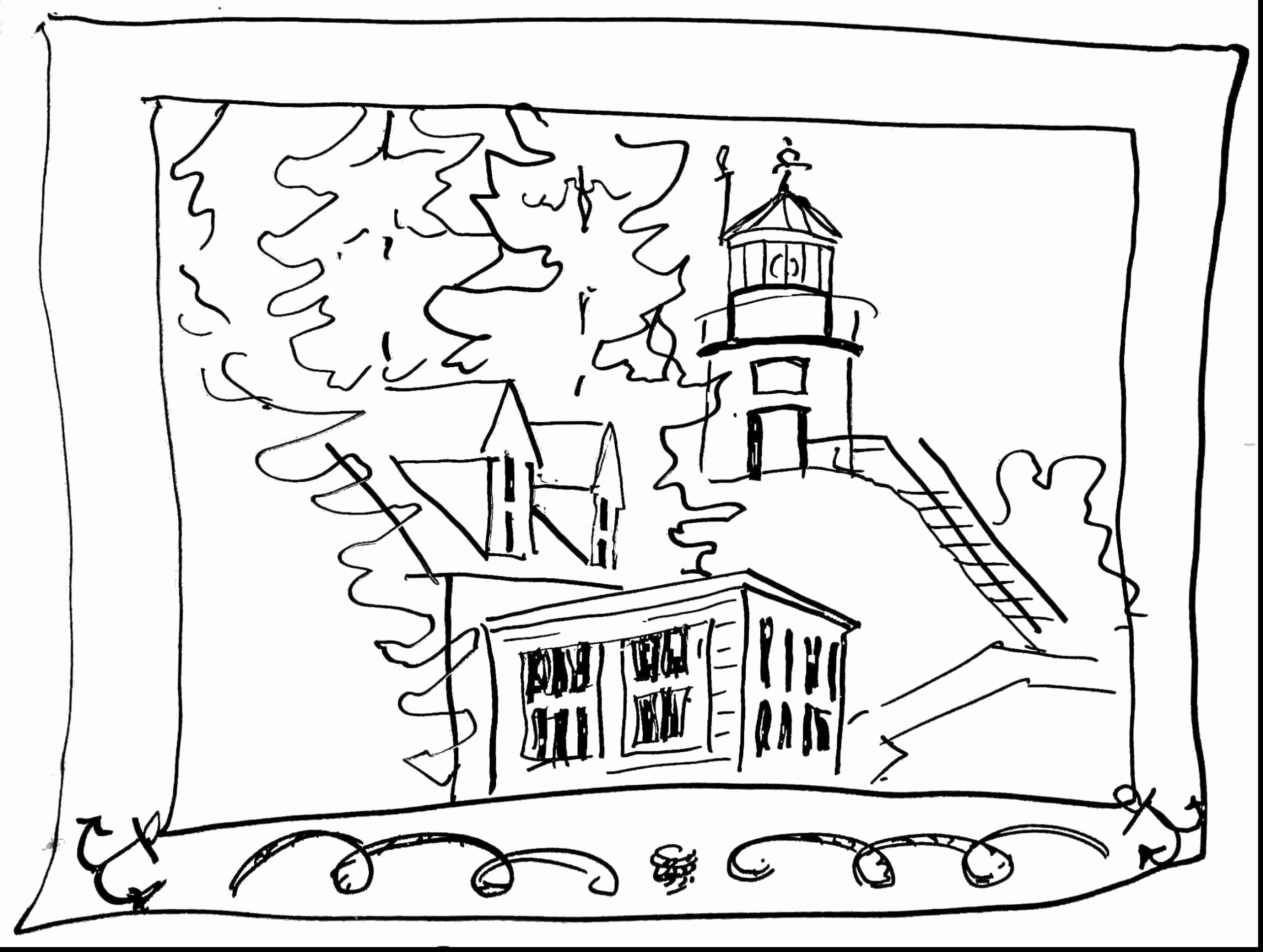 2566x1934 Elegant Pictures Of Lighthouse Coloring Pages