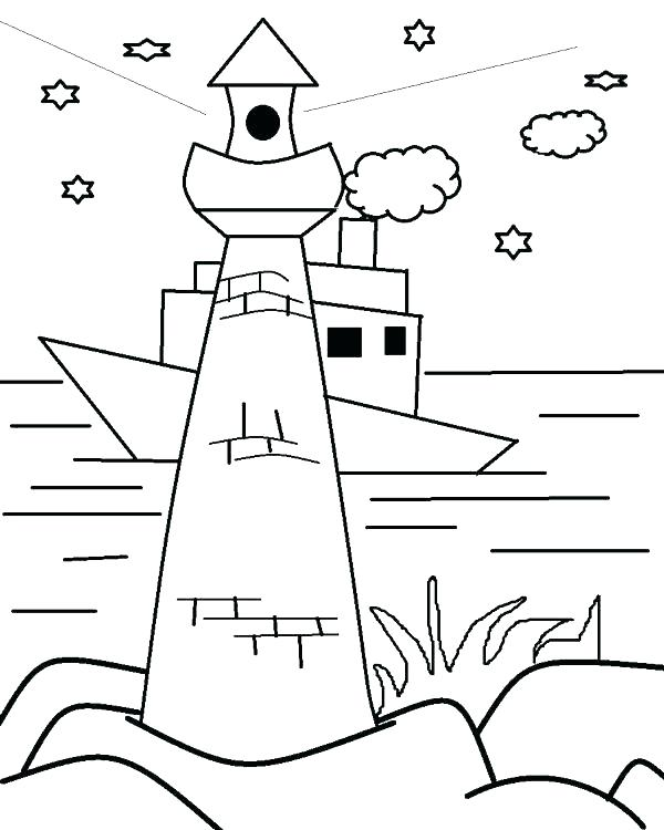 600x750 Lighthouse Pictures To Color Lighthouse Coloring Pages Free