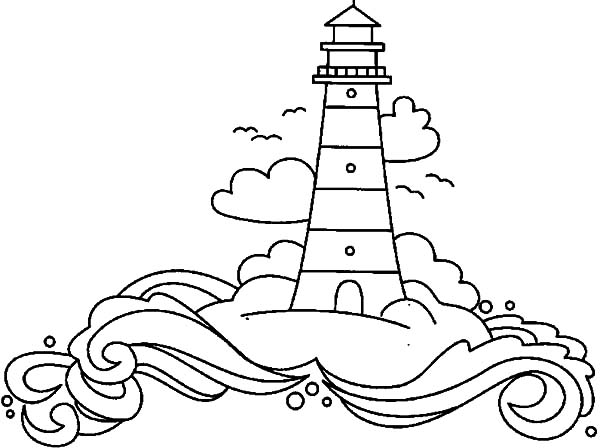 600x448 Lighthouse In The Land Of Dreams Coloring Pages