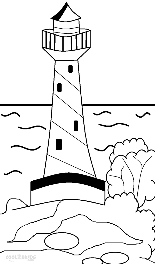 600x1017 Printable Lighthouse Coloring Pages For Kids