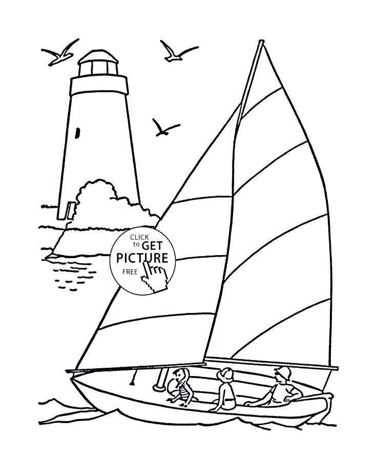 736x900 Lighthouse Coloring Page