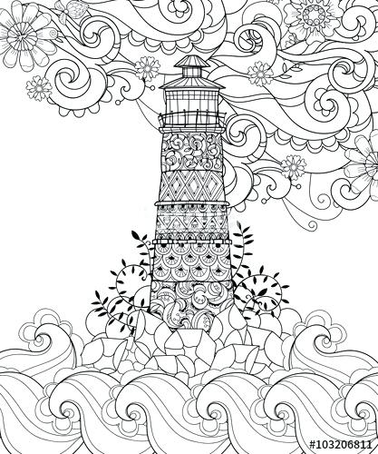 417x500 Lighthouse Coloring Page Coloring Pages Beach Plus Printable