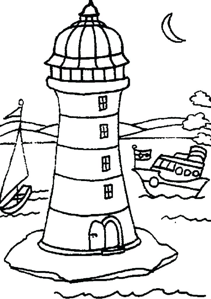 723x1024 Lighthouse Coloring Pages Coloring Pages Lighthouse To Print Free