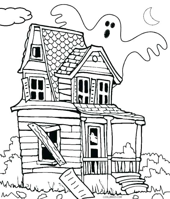 556x652 Lighthouse Coloring Pages House Coloring Pages Printable Haunted