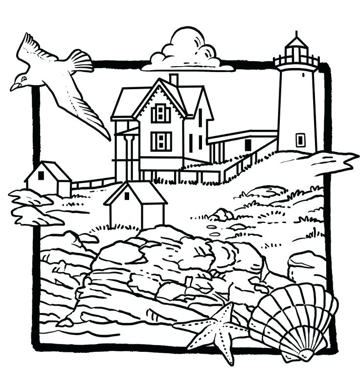 736x798 Lighthouse Coloring Pages Lighthouse Coloring Page Free Beach