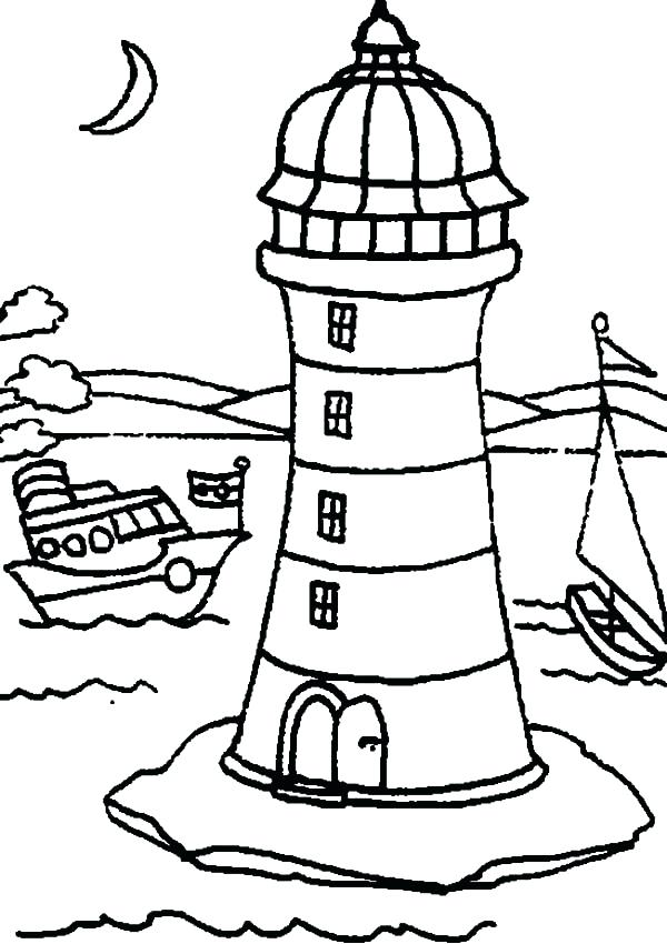 600x850 Lighthouse Coloring Pages Lighthouse Coloring Will Lights