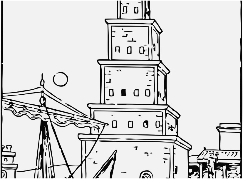 827x609 Lighthouse Coloring Pages Pic Free Printable Lighthouse Coloring