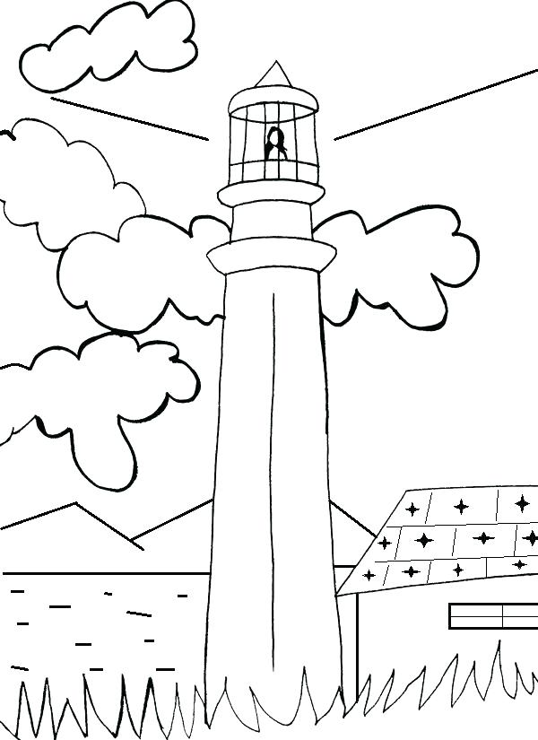 600x825 Lighthouse Coloring Pages Remarkable Lighthouse Coloring Page