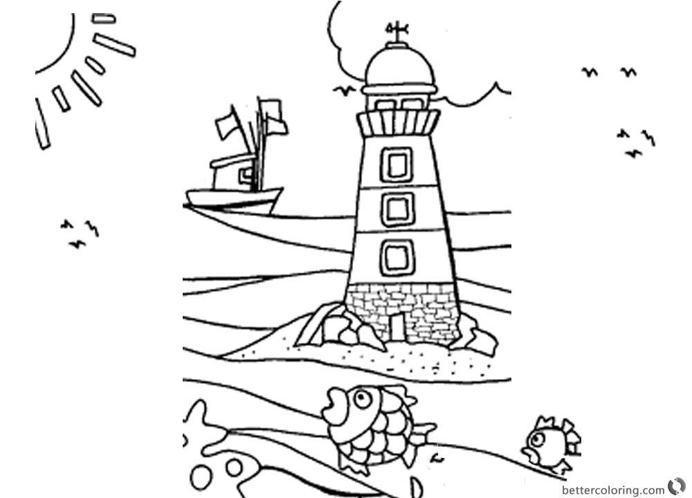 1000x720 Lighthouse Coloring Pages The Boat Is Back