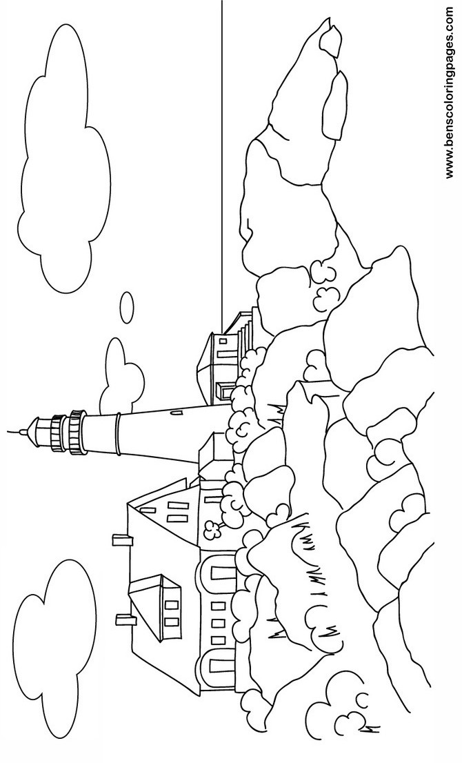 670x1106 Maine Light House Free Coloring Book